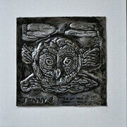 "Aluminum bas relief ""The Owl"""